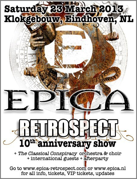 EPICA is celebrating their 10th anniversary with a special performance entitled Retrospect