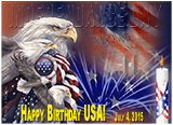 United States Independence Day - July 4, 2015.